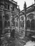 Courtyard, Principal Meeting Hall, Cathedral of Notre-Dame, Paris Photographic Print by  Cotte
