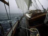 Sailing in Stormy Weather, Ticondergoa Race Fotografisk trykk av Michael Brown