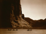Canyon de Chelly, Navajo Poster van Edward S. Curtis