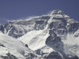 Mount Everest with Plumes, Tibet Photographic Print by Michael Brown