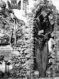 Detail of the Skeleton of a Capuchin Monk, Located in a Chapel of the Cemetery of the Capuchins Photographic Print