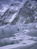 Khumbu Ice Fall, Everest, Nepal Photographic Print by Michael Brown