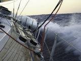 Sailboat in Rough Water, Ticonderoga Race Reproduction photographique par Michael Brown