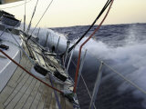 Sailboat in Rough Water, Ticonderoga Race Fotografisk trykk av Michael Brown