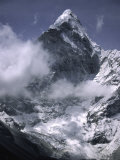 Cloud Cover Approaching Ama Dablam, Nepal Photographic Print by Michael Brown