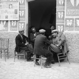 Men in Conversation in Accettura Photographic Print