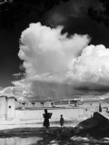 Monsoon Clouds Over the Houses of Gyantse, Tibet Photographic Print