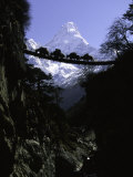 Bridge in Ama Dablam, Nepal Prints by Michael Brown
