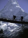 Bridge in Ama Dablam, Nepal Photographic Print by Michael Brown