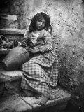 Portrait of a Sicilian Girl Papier Photo