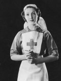 Portrait Photograph of a Rather Angelic Nurse with a Serene Face Photographic Print