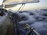 Sailboat in Rough Water, Ticonderoga Race Photo by Michael Brown