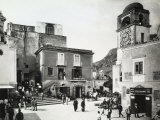 Main Square of Capri Photographic Print