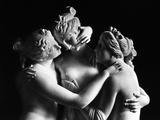 The Three Graces, Gallery of the Hermitage, Saint Petersburg Fotografisk tryk af Antonio Canova