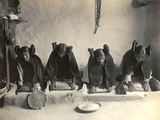 The Hopi Mealing Trough Photo af Edward S. Curtis