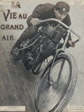 Hoffmann French Motor Cycling Champion Photographic Print