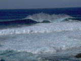 Waves Crashing off Easter Island, Chile Photographic Print by Michael Brown