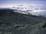 Glacier Near Mountain Summit, Kilimanjaro Print by Michael Brown