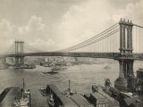 Manhattan Bridge Crossing the East River, New York Photographie