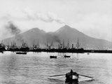 Mount Vesuvius Seen from the Quay of Naples Photographic Print