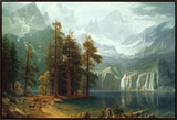 Sierra Nevada in California Framed Canvas Print by Albert Bierstadt