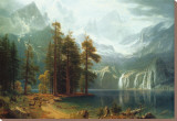 Sierra Nevada in California Stretched Canvas Print by Albert Bierstadt