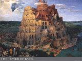 De toren van Babel, ca.1563 Kunst van Pieter Bruegel the Elder