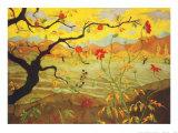 Appelboom met rood fruit, ca.1902 Poster van Paul Ranson