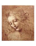 Naisen pää (Female Head - La Scapigliata), noin 1508 Julisteet tekijänä  Leonardo da Vinci
