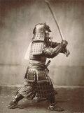 Samuraj wymachujący mieczem (Samurai Brandishing Sword) Poster