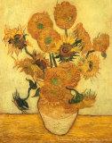 Vierzehn Sonnenblumen in einer Vase, ca. 1889 Kunstdrucke von Vincent van Gogh