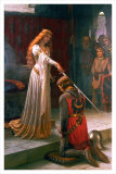 L&#39;accolade, vers 1901 Posters par Edmund Blair Leighton