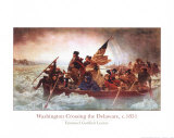 Washington Crossing the Delaware, c.1851 Prints by Emanuel Gottlieb Leutze