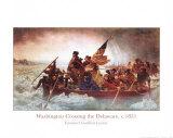 Washington cruzando el Delaware, ca. 1851 Pósters por Emanuel Leutze
