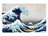 A Grande Onda em Kanagawa, da série 36 vistas do Mount Fuji, cerca de 1829 Pôsteres por Katsushika Hokusai