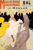 Moulin Rouge, c.1891 Poster by Henri de Toulouse-Lautrec