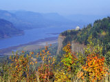 Vista House, Crown Point, Columbia river Gorge, Oregon, USA Photographic Print by Janis Miglavs