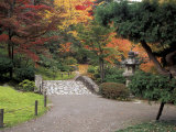 Pathway and Stone Bridge at the Japanese Garden, Seattle, Washington, USA Photographic Print by Jamie & Judy Wild