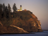 Cape Disappointment Lighthouse, Lewis and Clark Trail, Illwaco, Washington, USA Photographic Print by Connie Ricca
