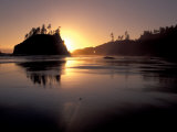 Sunset at Second Beach, Olympic National Park, Washington, USA Photographic Print by Jamie & Judy Wild