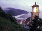 Foggy Day at the Heceta Head Lighthouse, Oregon, USA Photographic Print by Janis Miglavs