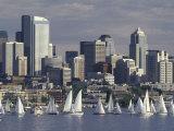 Duck Dodge Sailboat Race, Lake Union, Seattle, Washington, USA Photographic Print by William Sutton