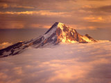 Aerial of Mt. Hood, Oregon Cascades, USA Photographic Print by Janis Miglavs