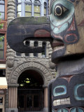 Totem Pole in Pioneer Square, Seattle, Washington, USA Photographic Print by Jamie & Judy Wild