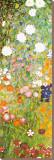 Jardín de flores (detalle) Reproducción en lienzo de la lámina por Gustav Klimt