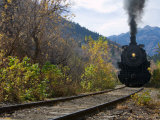 Steam Locomotive of Heber Valley Railroad Tourist Train, Wasatch-Cache National Forest, Utah, USA Photographic Print by Scott T. Smith