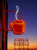 Public Market Sign at Sunset, Seattle, Washington, USA Photographic Print by Paul Souders