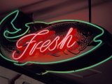 Fresh Fish Sign at Pike Place Market, Seattle, Washington, USA Photographic Print by John & Lisa Merrill