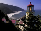 Heceta Head Lighthouse, Florence, Oregon, USA Photographic Print by Adam Jones