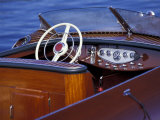 Antique and Classic Boat Society Show on Lake Washington, Seattle, Washington, USA Fotografiskt tryck av William Sutton